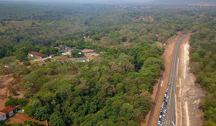 Rio Verde Balneário e rodovia MS-427.  Foto: Chico Ribeiro