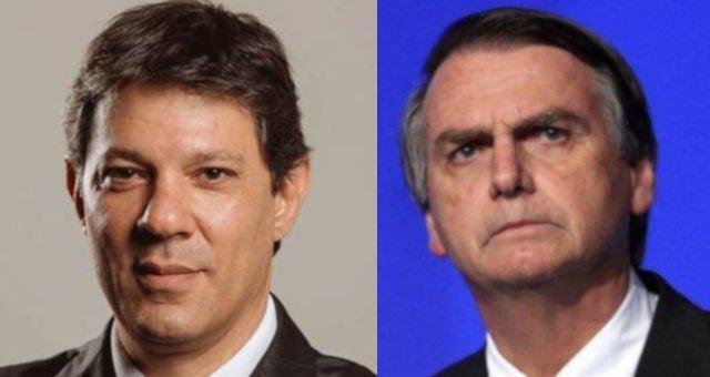 Resultado de imagem para Bolsonaro e Haddad empatam tecnicamente em pesquisa CNT/MDA